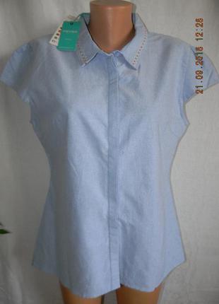 Новая натуральная блуза с вышивкой