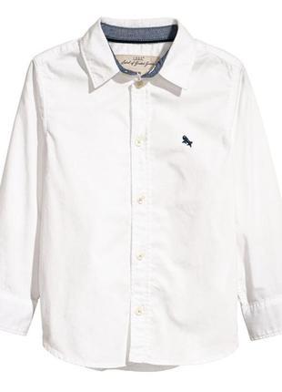 H&m белая рубашка для мальчика