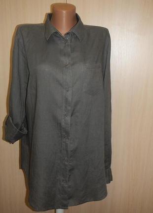 Льняная блуза рубашка ton tailor р.42