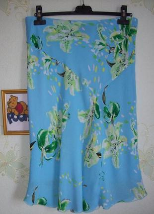 Летняя шелковая юбка, размер 40-42