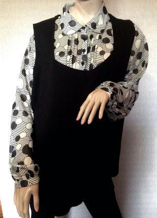 Джемпер+блузка evans,большого размера