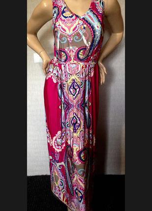 Красивое макси платье