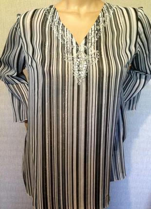 Стильная лёгкая серебристая  блузка