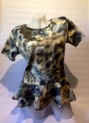 Стильная кофточка,блузка с баской