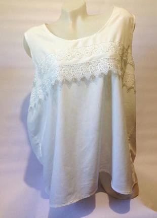 Белая блузка george большого размера