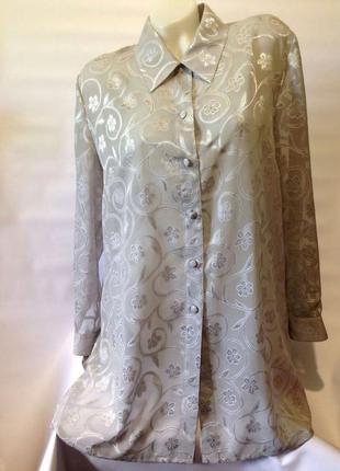 Стильная серебристо-серая блузка eastex