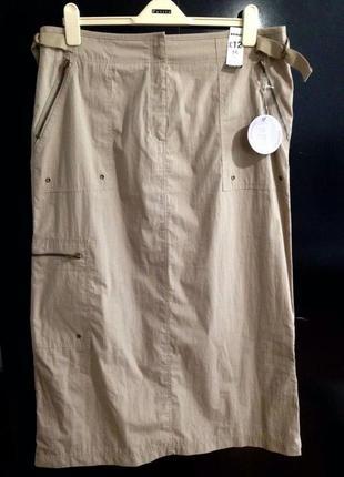 Новая лёгкая юбка миди papaya