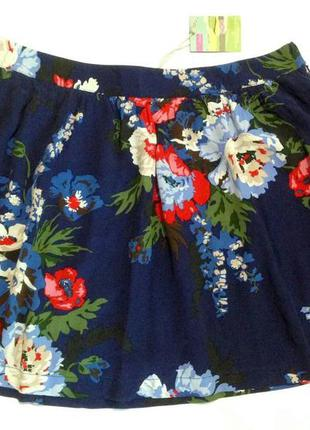 Шикарная лёгкая юбка в цветы