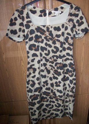 Шелковое платье на подкладке, размер s