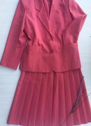Шикарный костюм пиджак +юбка миди от debenhams