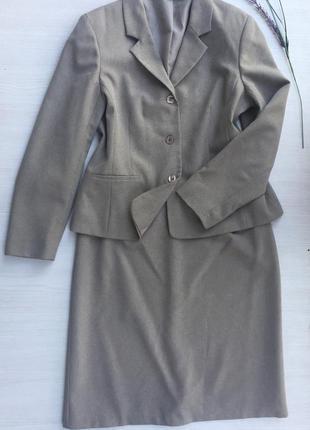 Стильный деловой костюм пиджак +юбка