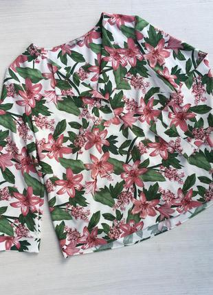 Шикарная нарядная блузка цветочный принт tu