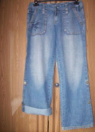 Джинсовые летние брюки из тонкой ткани, 3-в-1