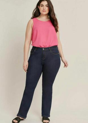 Шикарные джинсы с высокой посадкой большого размера