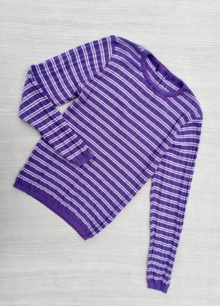 Классный свитер ,пуловер  в полоску