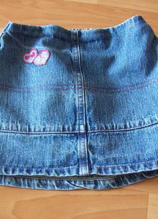 Джинсовая юбка toddler на девочку от 1,5 лет