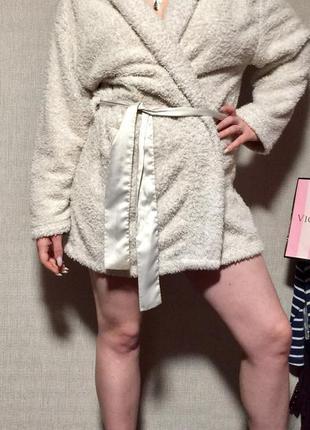 Тёплый плюшевый халат