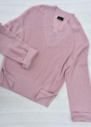 Стильный  пудровый свитер topshop