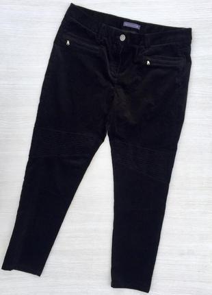 Классные укороченные вельветовые джинсы с высокой посадкой ,бр...