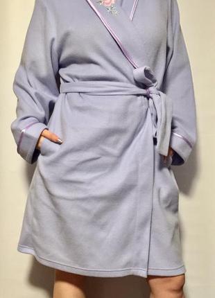 Тёплый флисовый домашний халат