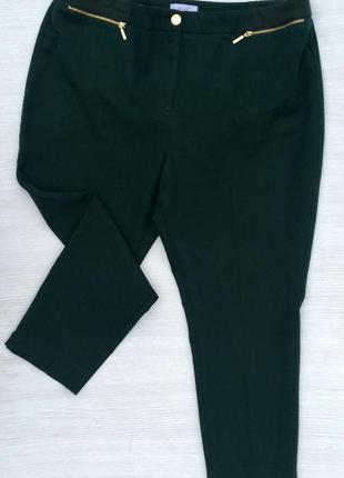 Шикарные брюки бутылочного цвета m&s большого размера