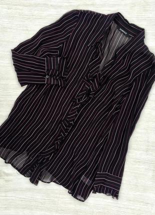 Стильная блузка в полоску большого размера