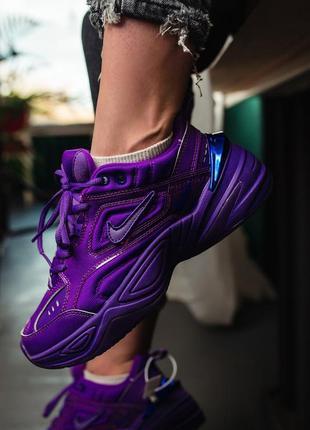 Nike m2k tekno violet, женские кроссовки найк, фиолетовые деми...