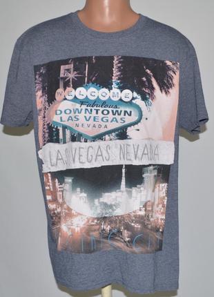 Стильная, фирменная футболка las vegas (xl)