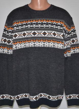 Тёплый, зимний свитер george twisted yarn (xxl) батал.