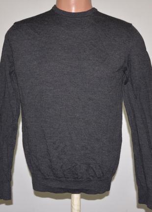 Стильный шерстяной свитер zara (m) 100% шерсть