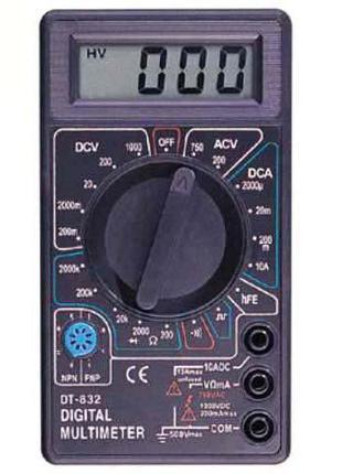 Мультиметр DT-832 тестер цифровой