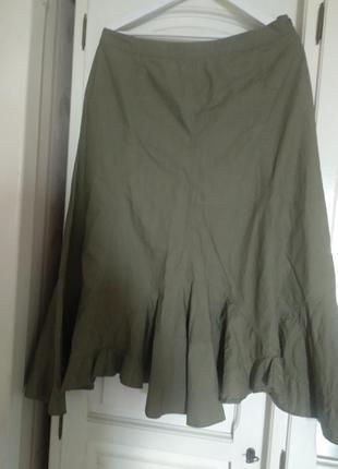 Стильная юбка миди💚 супер, размер 50