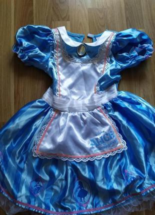 Платье алиса в стране чудес 3-4 года