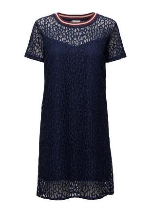 Стильное кружевное синее платье от modstrоm