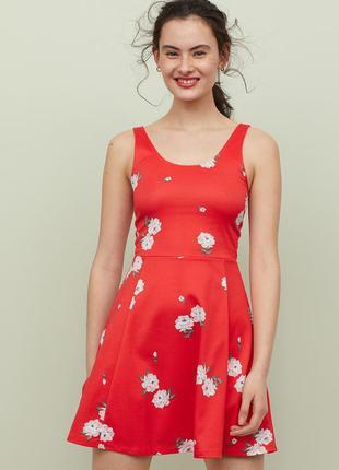 Яркий летний сарафан платье в цветы 34 h&m