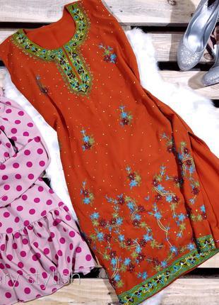 Туника сарафан в индийском стиле