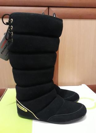 Замшевые сапоги/ угги/ дутики adidas 23,5 и 24