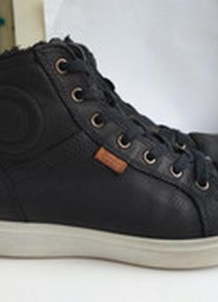 Кожаные ботинки ecco gore tex  р.38 оригинал