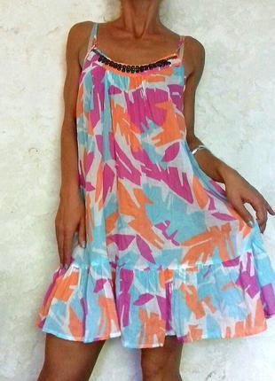 Нежное воздушное платье туника ocean club