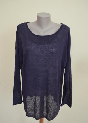 Красивая брендовая кофточка блузочка трикотажная 100% лен
