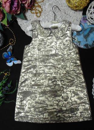 5лет.бомбезное золотистое платье monsoon