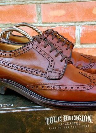 Loake туфли броги кожаные made in england оригинал (41 - uk 7)