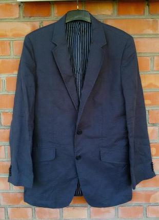 Hugo boss пиджак льняной оригинал (m)
