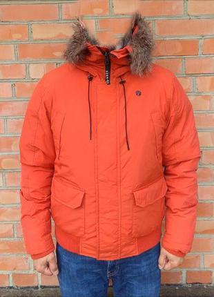 G-star raw mountain hooded bomber пуховик куртка оригинал (l) ...
