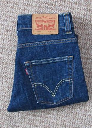 Levi's 511 джинсы slim fit оригинал (w30 l30) сост.идеал