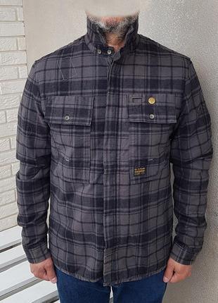 G-star raw flight deck quilted flannel shirt jacket куртка уте...