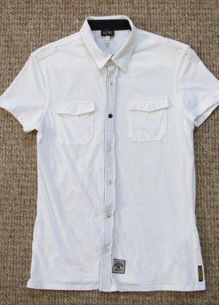 Armani jeans рубашка тканая поло оригинал (s)