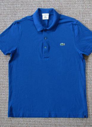Lacoste поло футболка slim fit оригинал (4 - m) сост.идеал