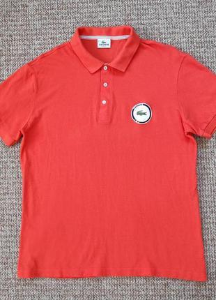 Lacoste поло футболка slim fit оригинал (8 - xl-xxl) сост.идеал