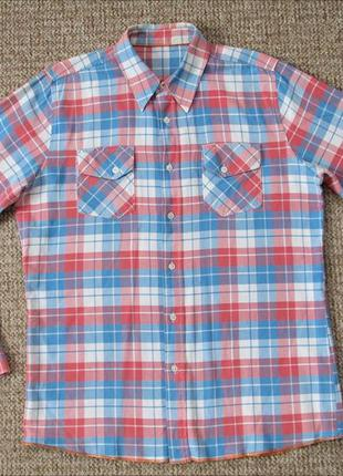 Nudie jeans тканая рубашка оригинал (l) сост.идеал